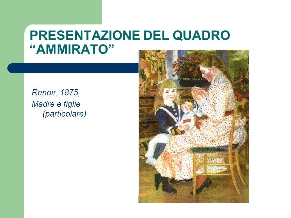 PRESENTAZIONE DEL QUADRO AMMIRATO Renoir, 1875, Madre e figlie (particolare)