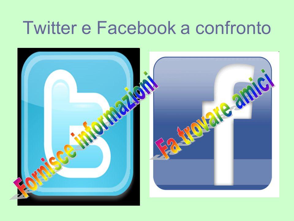 Twitter e Facebook a confronto