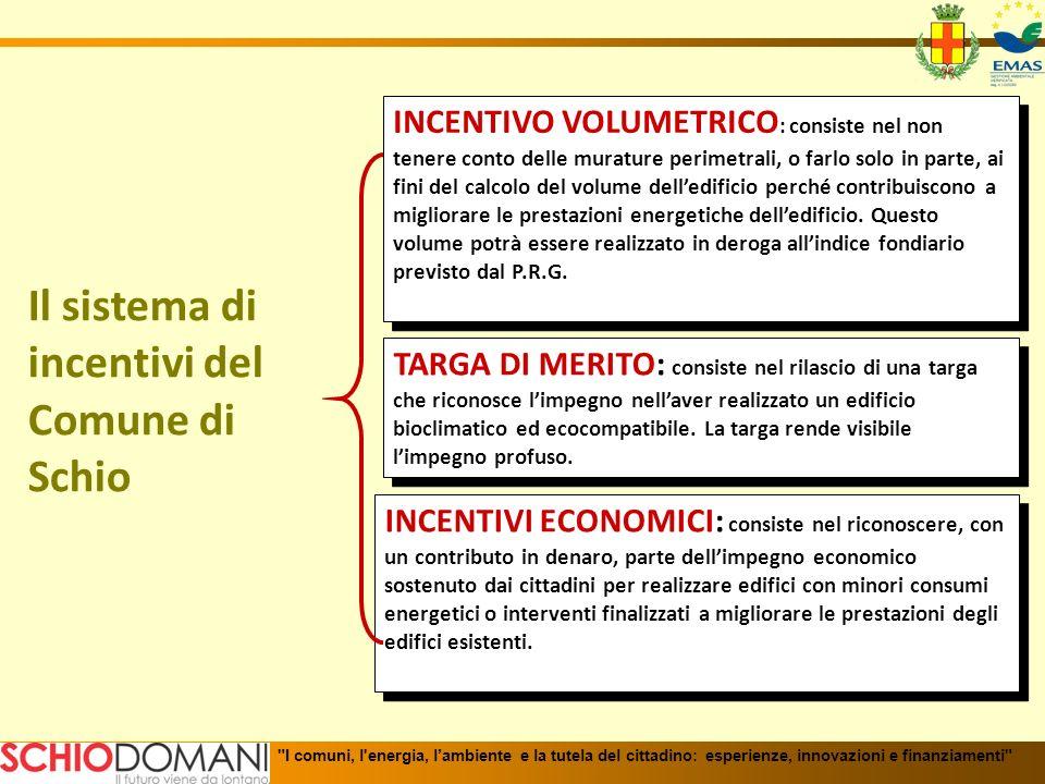 Cumulabilità dei vari incentivi I comuni, l energia, lambiente e la tutela del cittadino: esperienze, innovazioni e finanziamenti