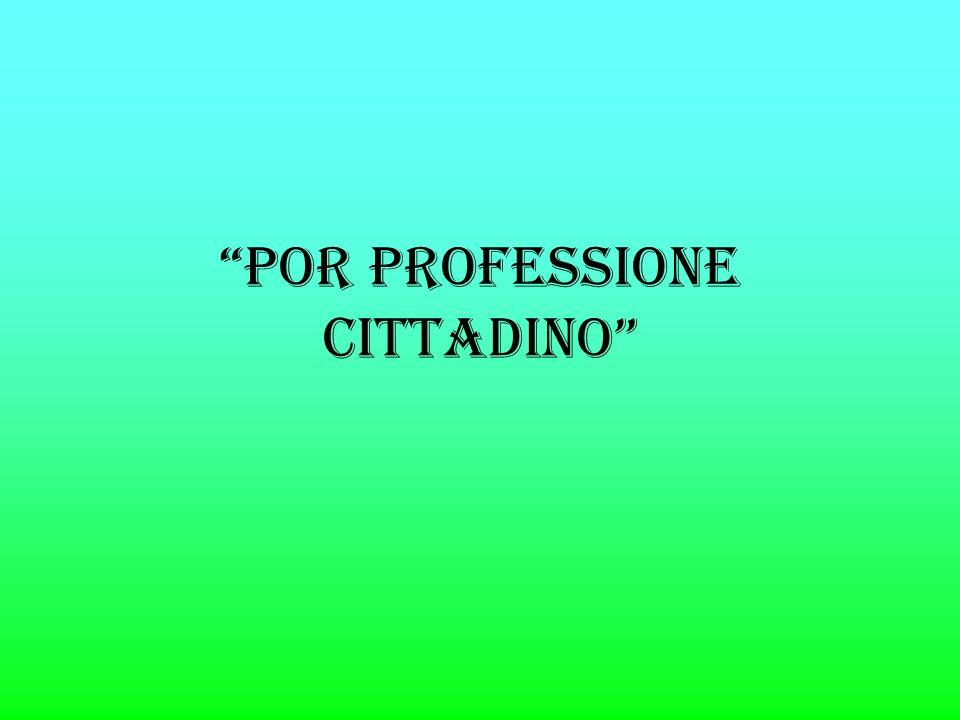 POR PROFESSIONE CITTADINO