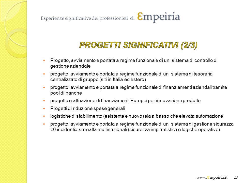 Ɛ mpeiría Esperienze significative dei professionisti di Ɛ mpeiría www. Ɛ mpeiría.it 23