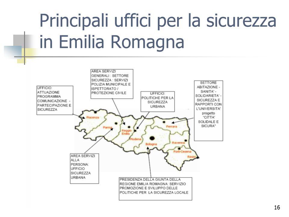 16 Principali uffici per la sicurezza in Emilia Romagna