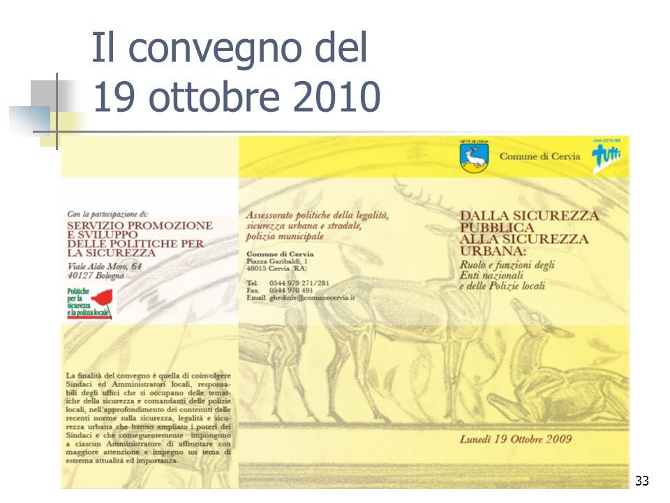 33 Il convegno del 19 ottobre 2010