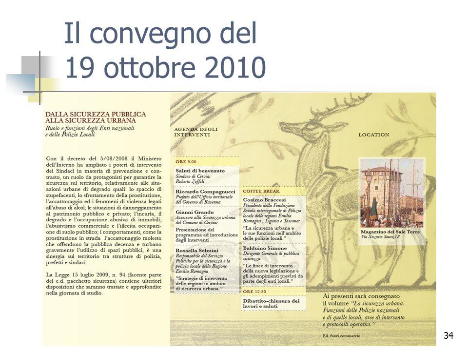 34 Il convegno del 19 ottobre 2010