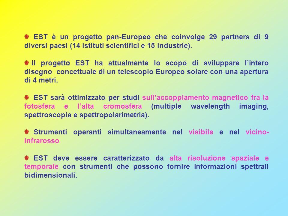 EST è un progetto pan-Europeo che coinvolge 29 partners di 9 diversi paesi (14 istituti scientifici e 15 industrie). Il progetto EST ha attualmente lo