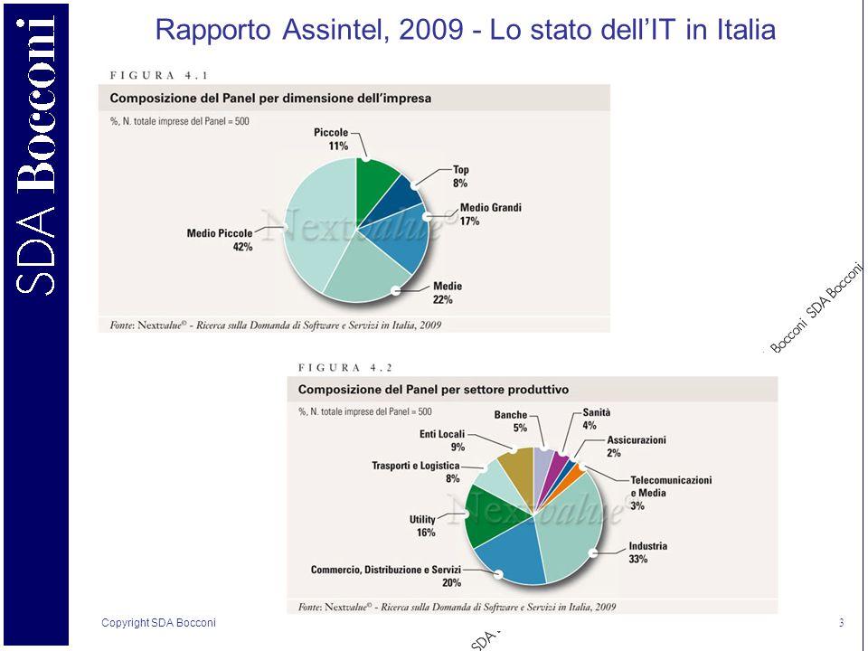 Copyright SDA Bocconi 3 Rapporto Assintel, 2009 - Lo stato dellIT in Italia
