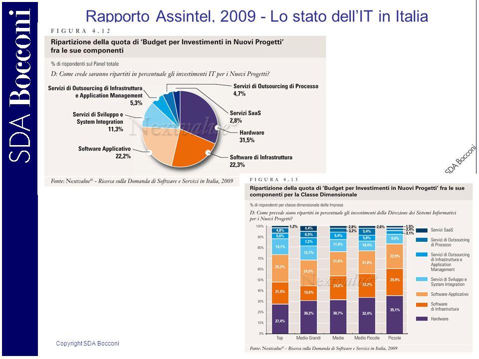 Copyright SDA Bocconi 8 Rapporto Assintel, 2009 - Lo stato dellIT in Italia