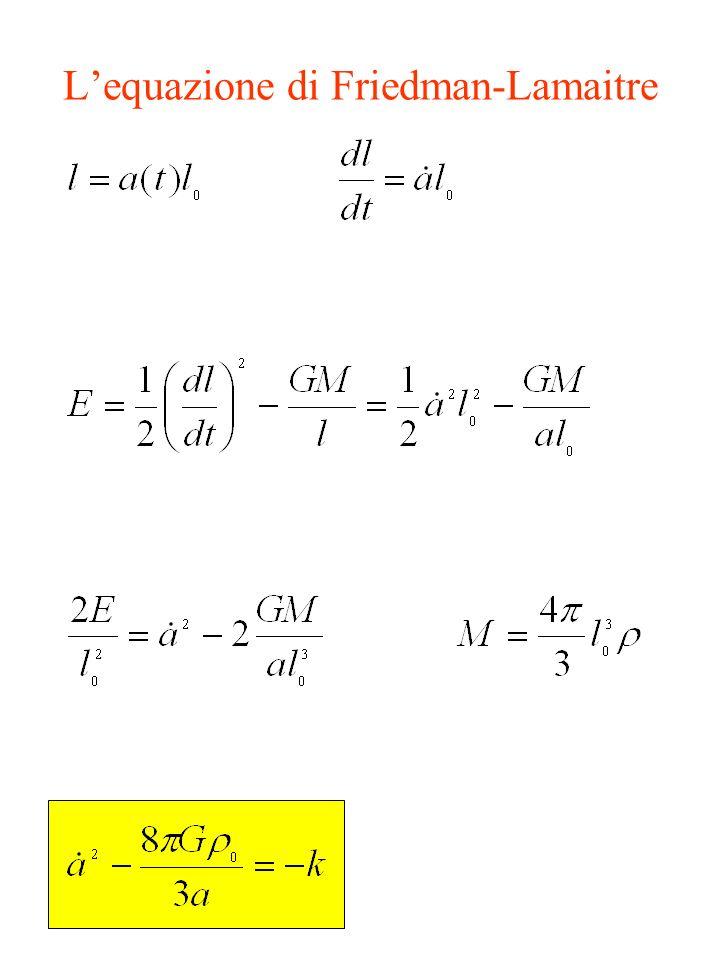 Lequazione di Friedman-Lamaitre