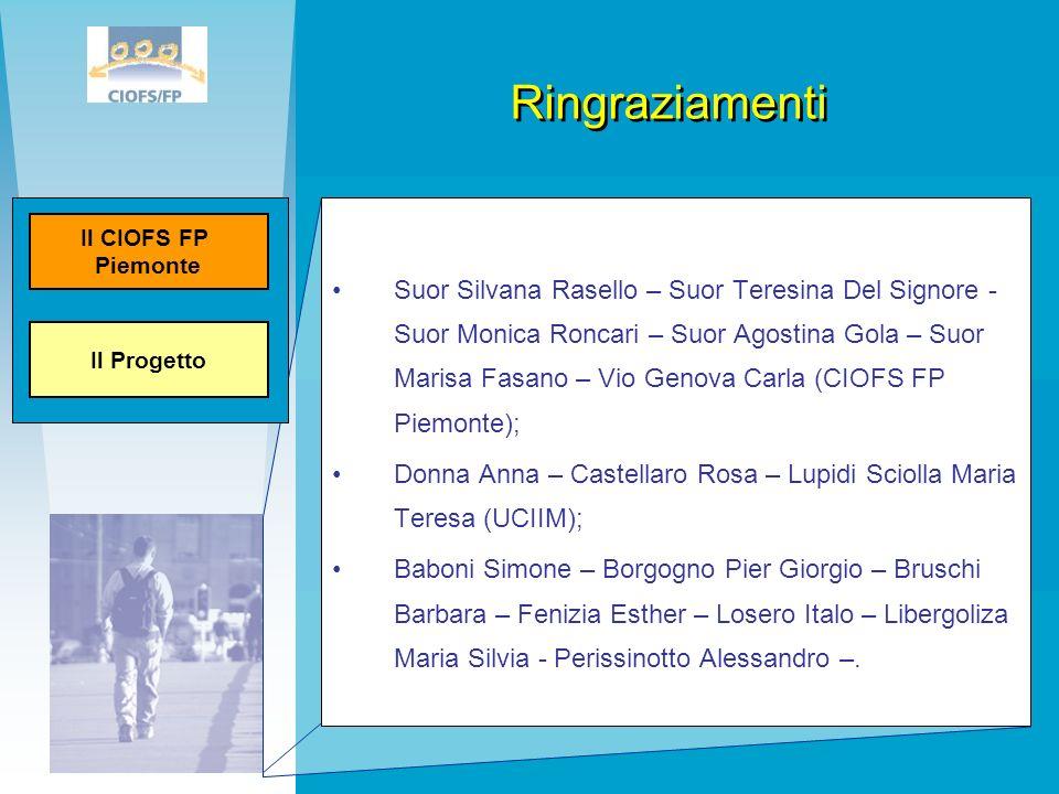 Suor Silvana Rasello – Suor Teresina Del Signore - Suor Monica Roncari – Suor Agostina Gola – Suor Marisa Fasano – Vio Genova Carla (CIOFS FP Piemonte