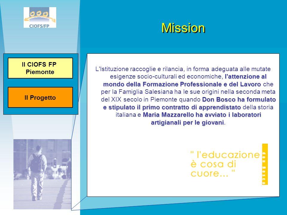 Mission l'attenzione al mondo della Formazione Professionale e del Lavoro Don Bosco ha formulato e stipulato il primo contratto di apprendistato Maria