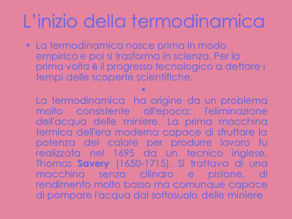 Breve storia della termodinamica..