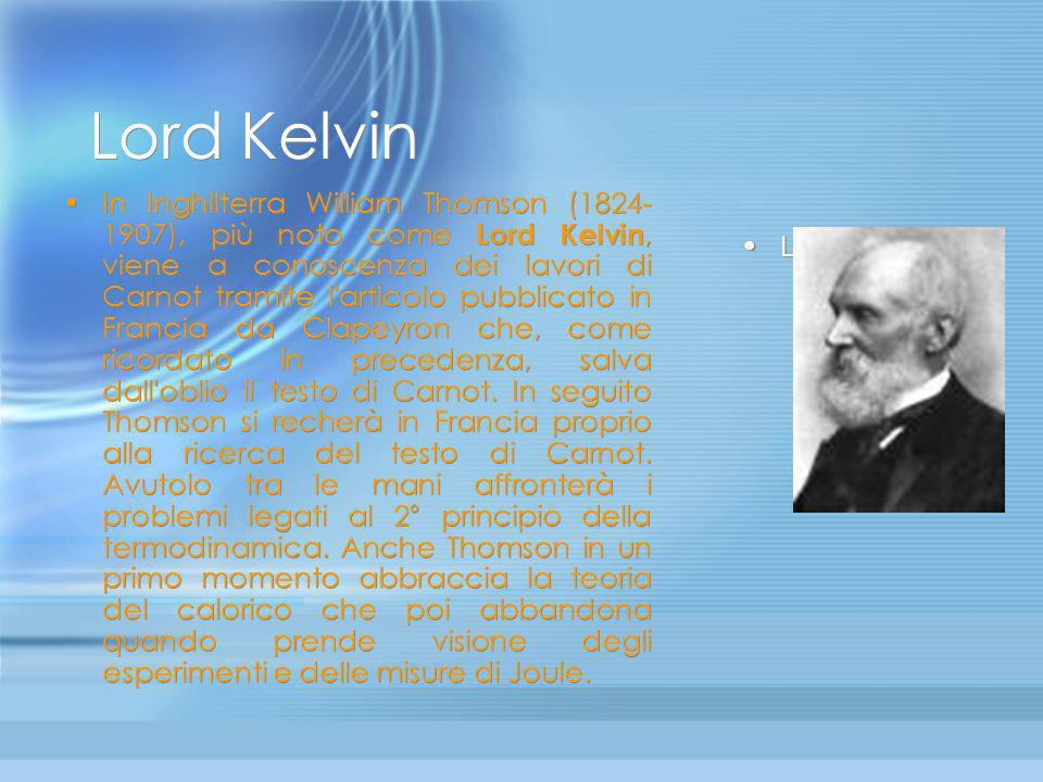 Rumford Il primo colpo di piccone alla teoria del calorico lo sferra Benjamin Thompson conte Rumford (1753- 1814). Nell'ambito del suo studio sull'ale