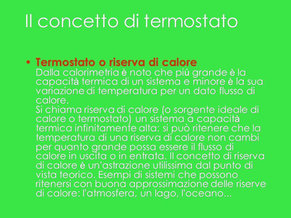 Sorgenti di calore Per trasferire calore è necessario avere a disposizione una sorgente di calore, a temperatura T2 maggiore della temperatura T1 del