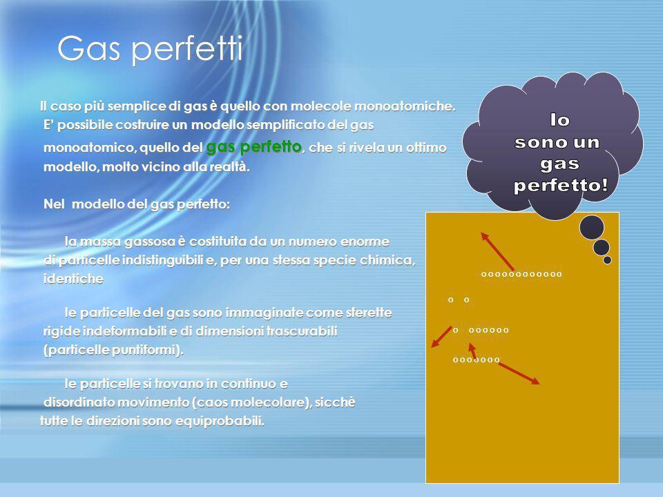 Lo stato gassoso Tra tutti i possibili stati della materia, per i lo stato gassoso è lo stato più importante per la termodinamica. Infatti le macchine