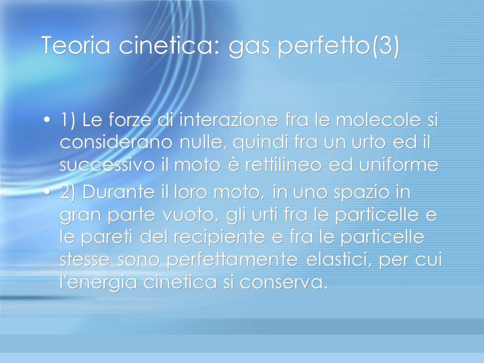 Il gas perfetto nella teoria cinetica dei gas (2) Come detto in precedenza, in termodinamica, così come negli altri campi della fisica, vi sono molti