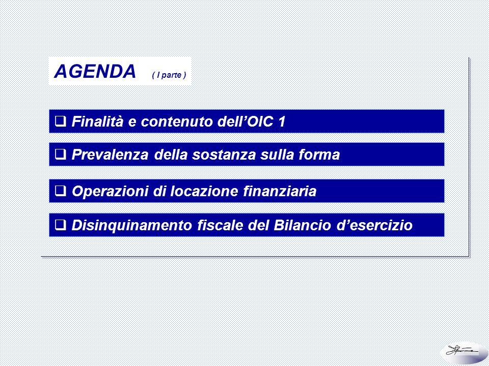 3 di 66 Finalità e contenuto dellOIC 1 Prevalenza della sostanza sulla forma Operazioni di locazione finanziaria Disinquinamento fiscale del Bilancio