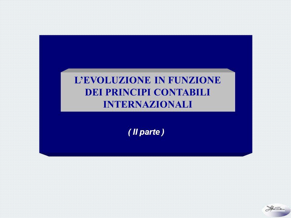 48 di 66 LEVOLUZIONE IN FUNZIONE DEI PRINCIPI CONTABILI INTERNAZIONALI ( II parte )