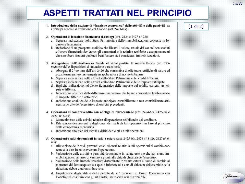 5 di 66 ASPETTI TRATTATI NEL PRINCIPIO (1 di 2)