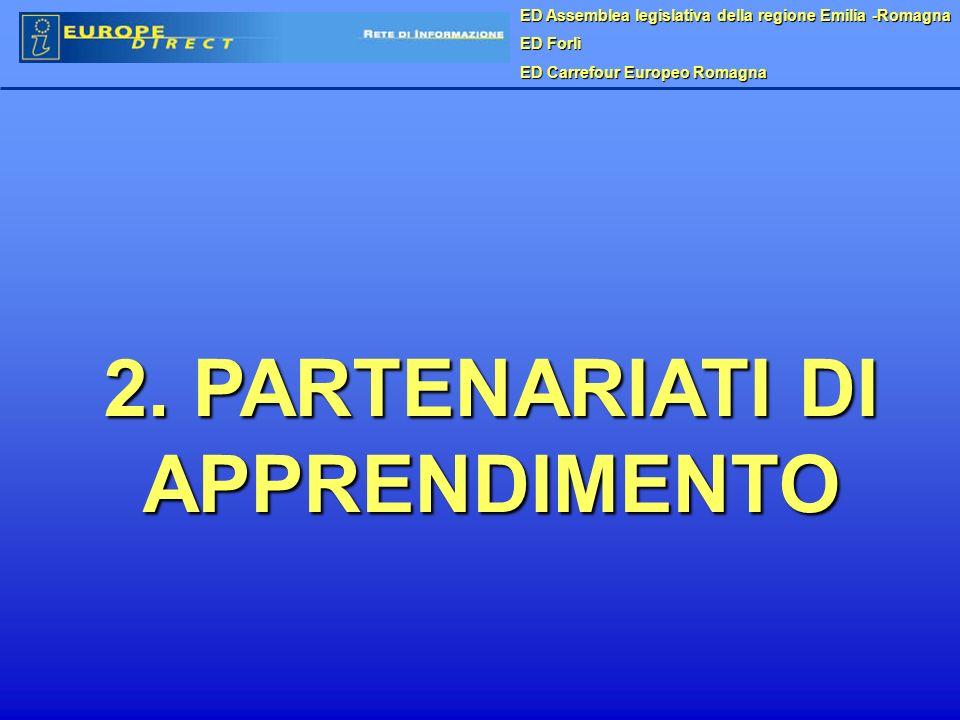 ED Assemblea legislativa della regione Emilia -Romagna ED Forlì ED Carrefour Europeo Romagna 2. PARTENARIATI DI APPRENDIMENTO