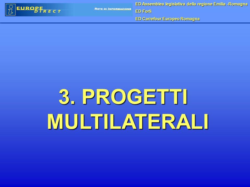 ED Assemblea legislativa della regione Emilia -Romagna ED Forlì ED Carrefour Europeo Romagna 3. PROGETTI MULTILATERALI