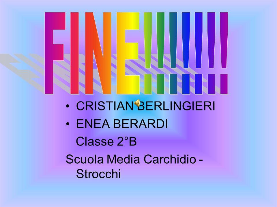 CRISTIAN BERLINGIERI ENEA BERARDI Classe 2°B Scuola Media Carchidio - Strocchi
