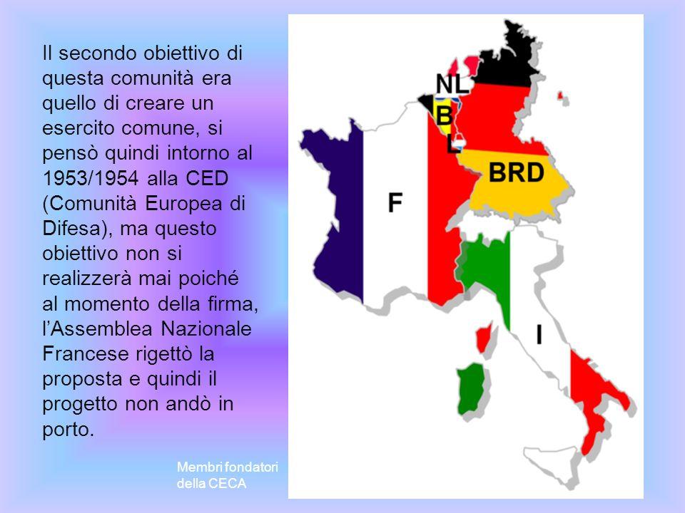La Comunità Economica Europea nasce il 1 gennaio 1958 con l entrata in vigore dei Trattati di Roma firmati da sei paesi fondatori (Italia, Germania, Francia, Belgio, Lussemburgo, Paesi Bassi) il 25 marzo dell anno precedente.