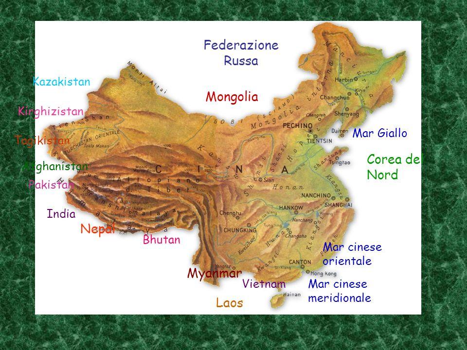 TERRITORIO Morfologia varia Due grandi regioni Orientale Occidentale Monti più alti del mondo EverestK2 Himalaya Pianure alluvionali Deserti