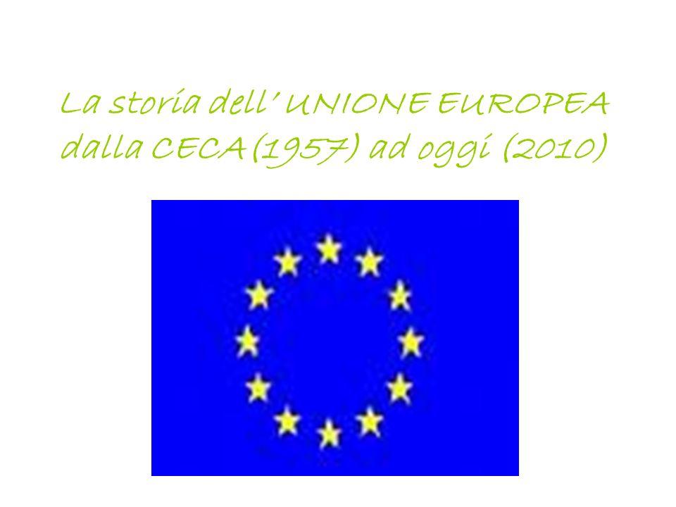 La storia dell UNIONE EUROPEA dalla CECA(1957) ad oggi (2010)
