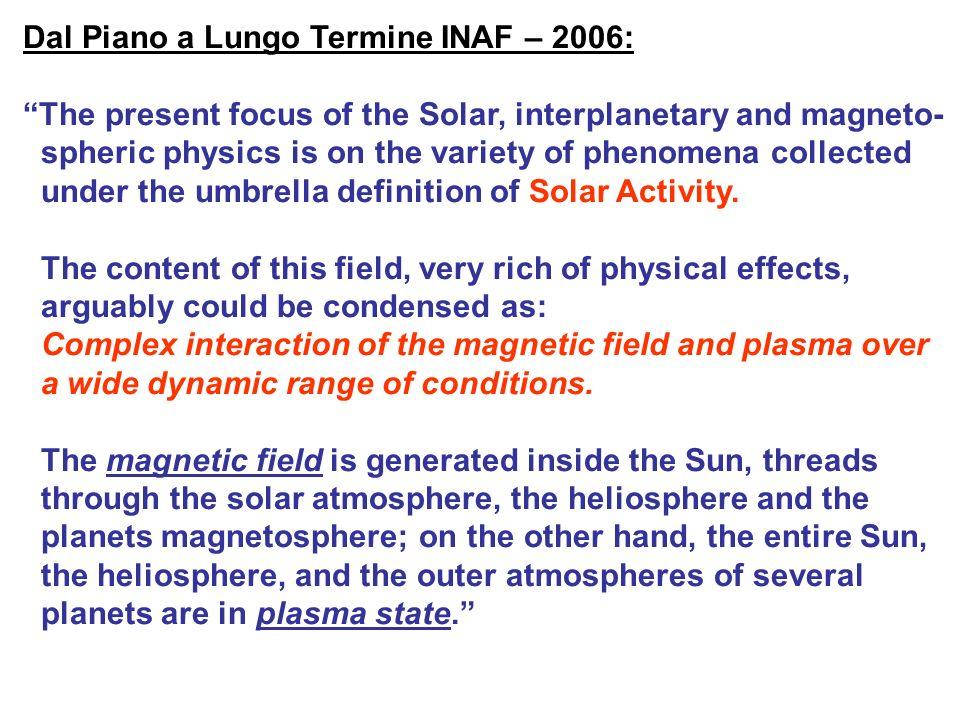 La sfida per la fisica solare Comprendere i processi che danno vita ad una corona calda, variabile e alla sua espansione nello spazio interplanetario per formare il vento solare e leliosfera Lintera atmosfera solare è coinvolta nella intensa deposizione di energia a livello coronale