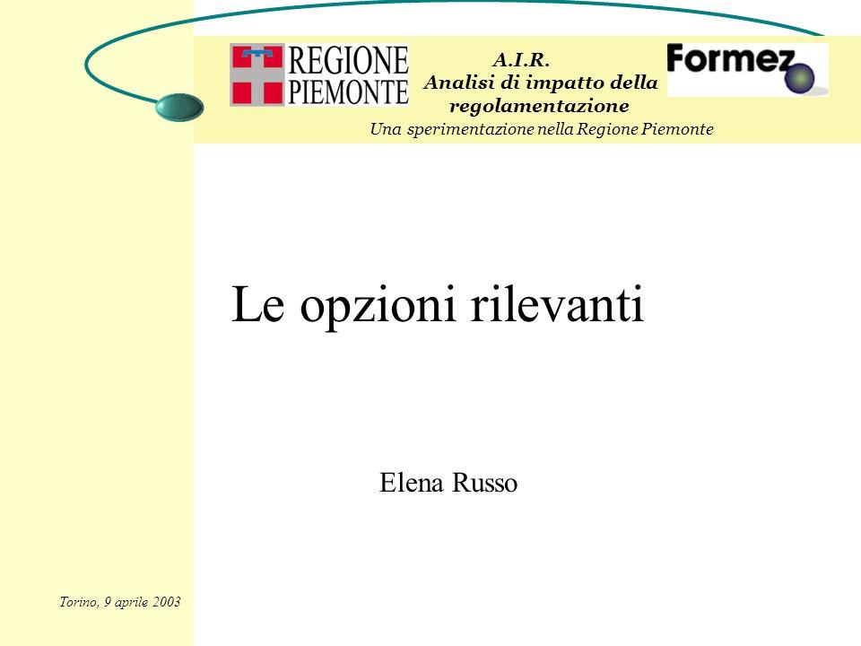Le opzioni rilevanti Elena Russo A.I.R.