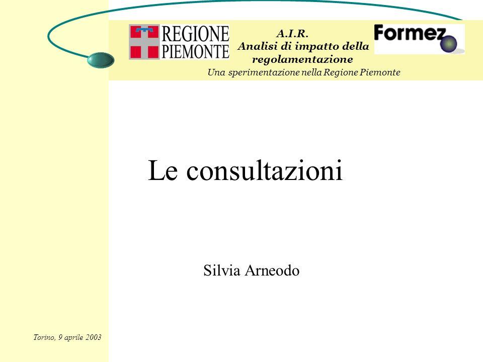 Le consultazioni Silvia Arneodo A.I.R.