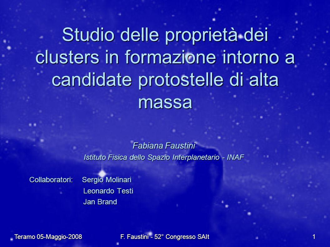 Teramo 05-Maggio-2008 F. Faustini - 52° Congresso SAIt 1 Fabiana Faustini Istituto Fisica dello Spazio Interplanetario - INAF Collaboratori: Sergio Mo