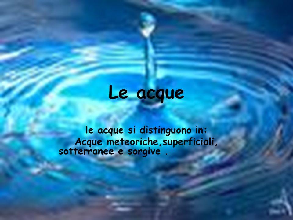 Lacqua potabile Lacqua è potabile se è trasparente,di odore e sapore gradevoli,biologicamente pura (cioè priva di microrganismi patogeni),chimicamente pura(cioè priva di metalli o altre sostanze inorganiche dannose per la salute)e con una quantità di Sali minerali non inferiore a 0,1 grammi per litro (g/l)e non superiore a 0,5 g/l.