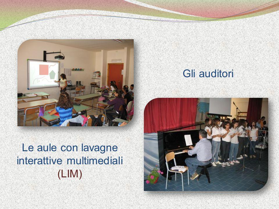 Le aule con lavagne interattive multimediali (LIM) Gli auditori