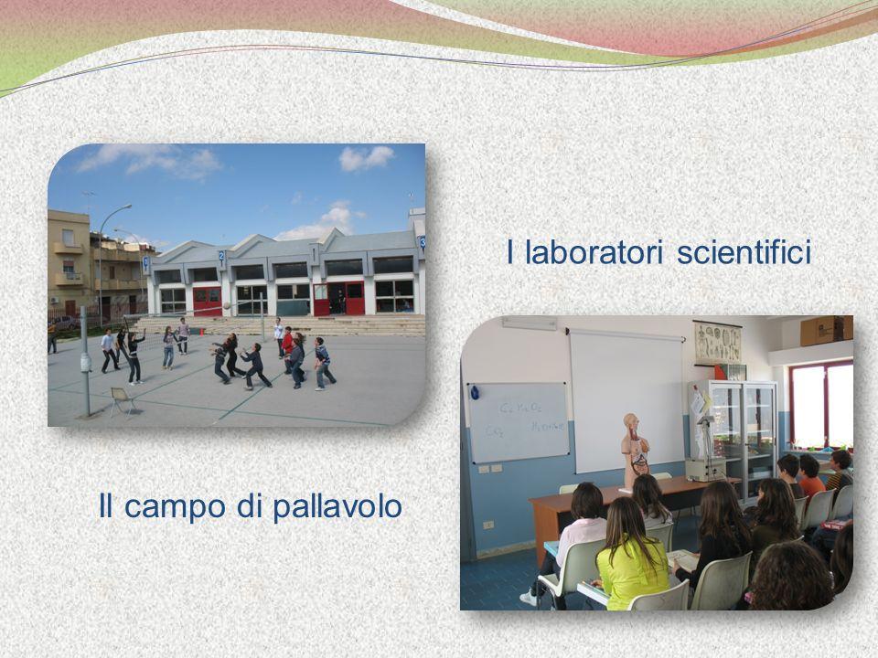 Il campo di pallavolo I laboratori scientifici