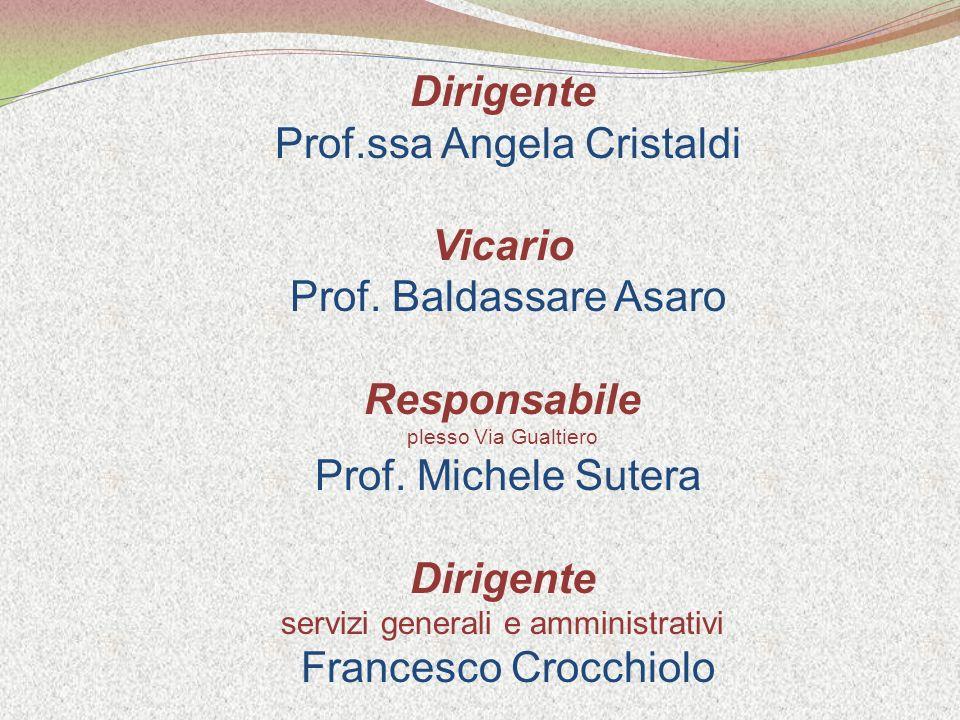 Dirigente Prof.ssa Angela Cristaldi Vicario Prof.