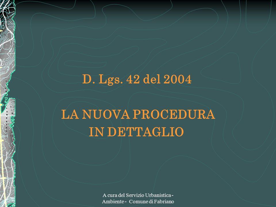 A cura del Servizio Urbanistica - Ambiente - Comune di Fabriano D.