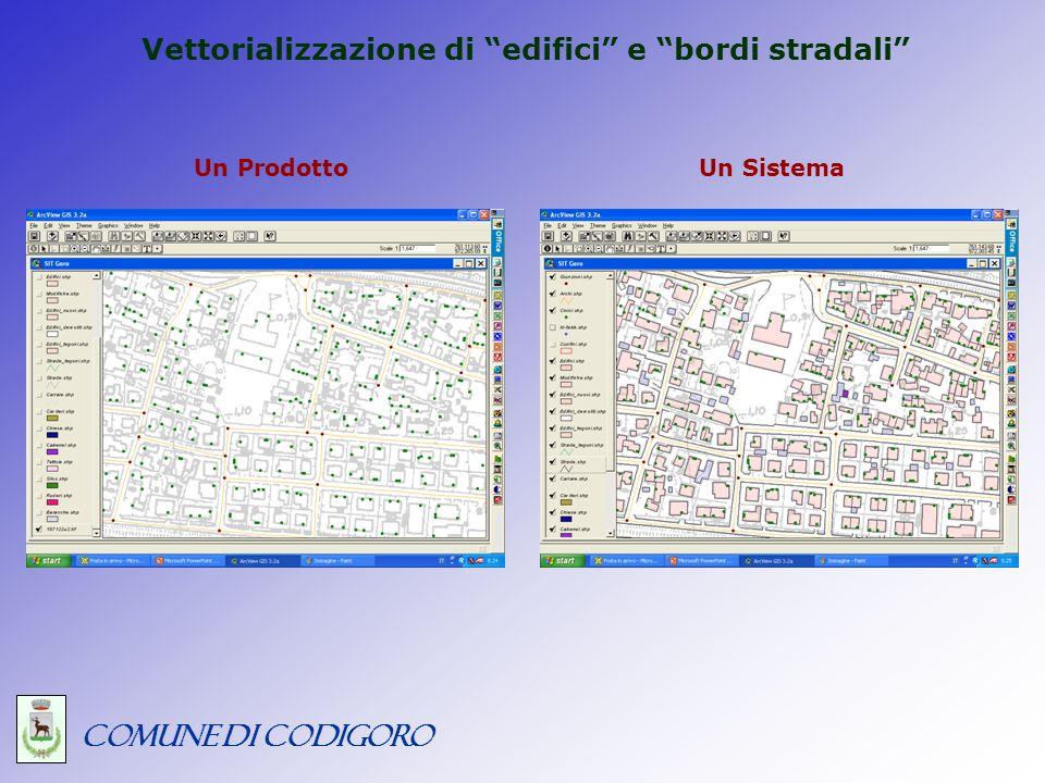 COMUNE DI CODIGORO Le specifiche di vettorializzazione – fonti: 1.