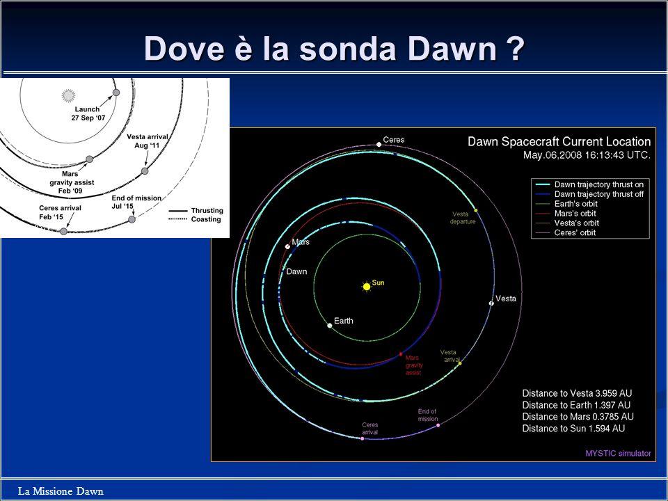 Dove è la sonda Dawn ?