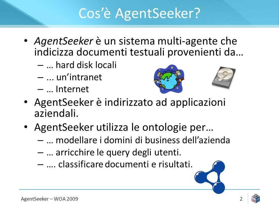 AgentSeeker – WOA 20092 Cosè AgentSeeker.