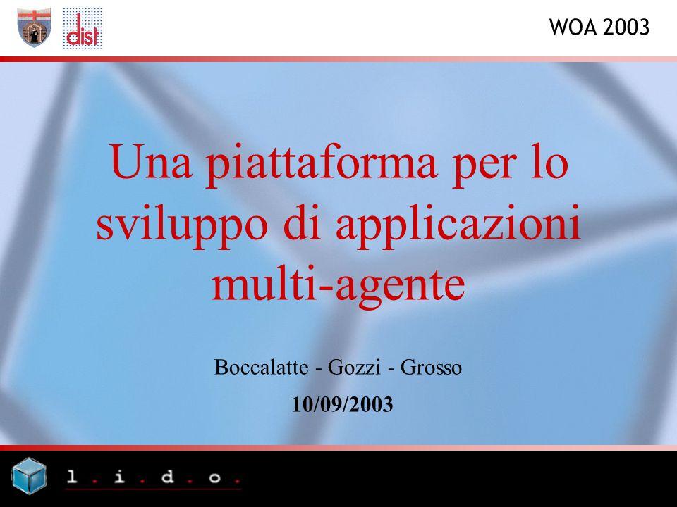 WOA 2003 Una piattaforma per lo sviluppo di applicazioni multi-agente Boccalatte - Gozzi - Grosso 10/09/2003