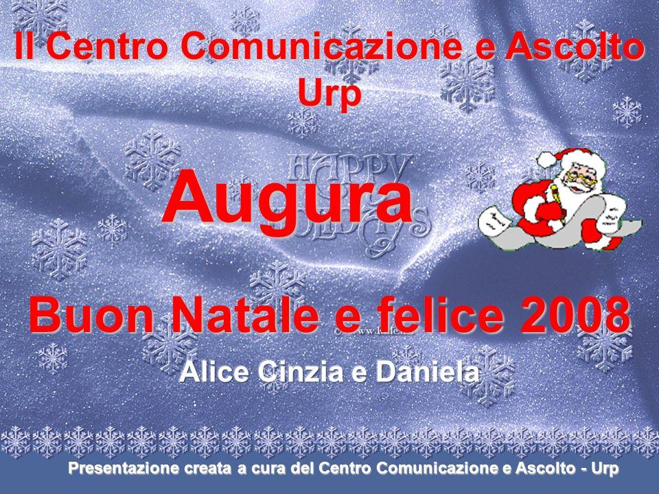 Il Centro Comunicazione e Ascolto Urp Augura Buon Natale e felice 2008 Presentazione creata a cura del Centro Comunicazione e Ascolto - Urp