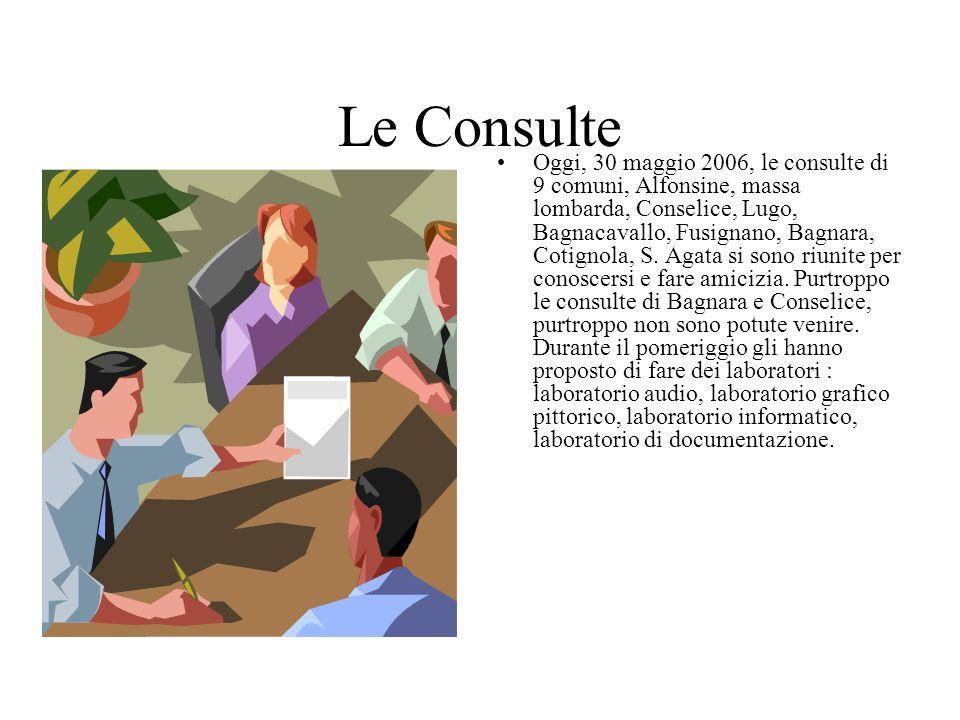 Le Consulte Oggi, 30 maggio 2006, le consulte di 9 comuni, Alfonsine, massa lombarda, Conselice, Lugo, Bagnacavallo, Fusignano, Bagnara, Cotignola, S.