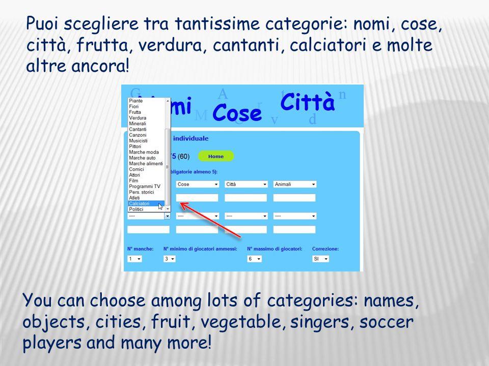 Choose how many times you want to play Scegli quante manche vuoi fare (da 1 a 10)
