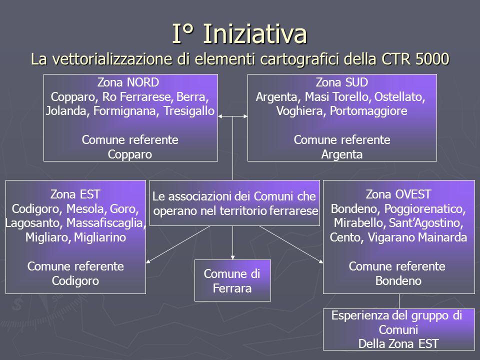 I° Iniziativa La vettorializzazione di elementi cartografici della CTR 5000 Le associazioni dei Comuni che operano nel territorio ferrarese Zona EST C