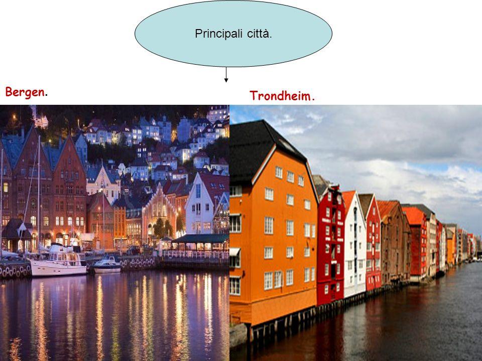 Principali città. Bergen. Trondheim.