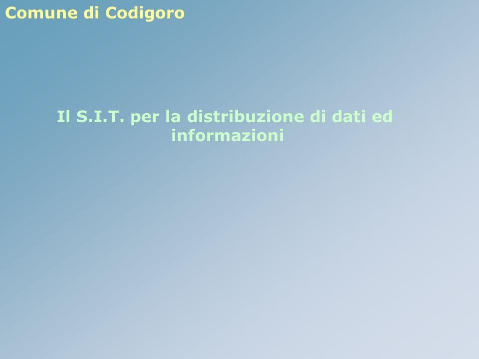 Comune di Codigoro Il S.I.T. per la distribuzione di dati ed informazioni
