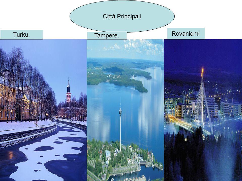 Città Principali Turku. Tampere. Rovaniemi