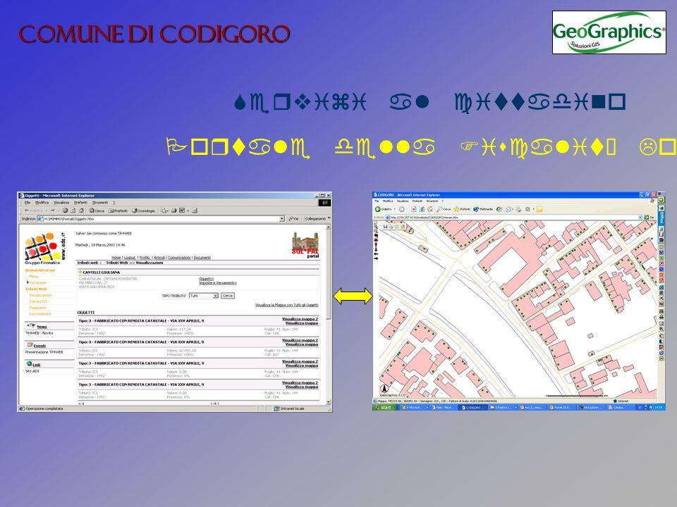 COMUNE DI CODIGORO Servizi al cittadino Portale della Fiscalità Locale