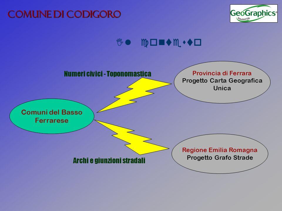Regione Emilia Romagna Progetto Grafo Strade Provincia di Ferrara Progetto Carta Geografica Unica Comuni del Basso Ferrarese COMUNE DI CODIGORO Il con